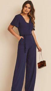 μπλε ολόσωμη φόρμα