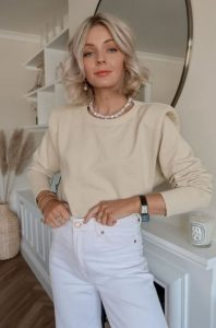λευκό και κρεμ ντύσιμο