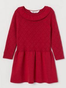 φορεμα κοκκινο χειμωνας 2021 h&m