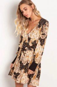 floral φόρεμα mini