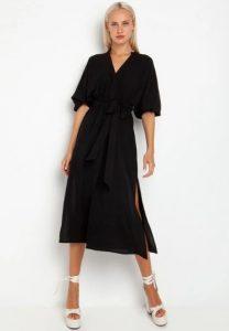 μαύρο φόρεμα με ανοίγματα