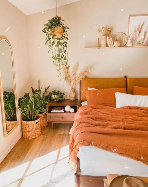 υπνοδωμάτιο φυτά κρεμαστά