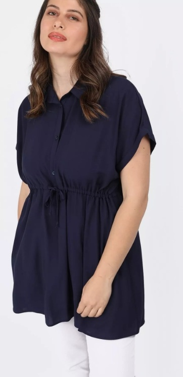 καλοκαιρινό γυναικείο πουκάμισο με ζωνάκι