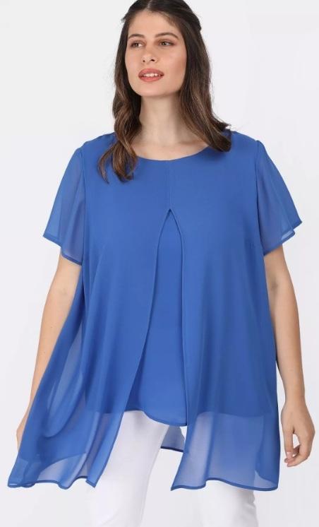 μπλε γυναικεία μπλούζα φαρδιά γραμμή
