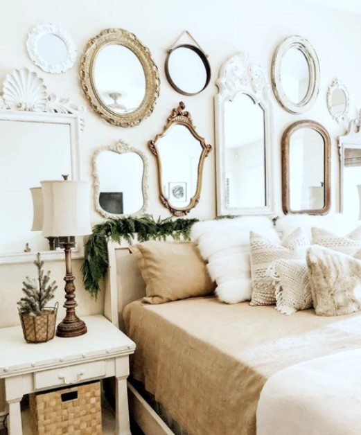 διακόσμηση κρεββατοκάμαρας καθρέπτες