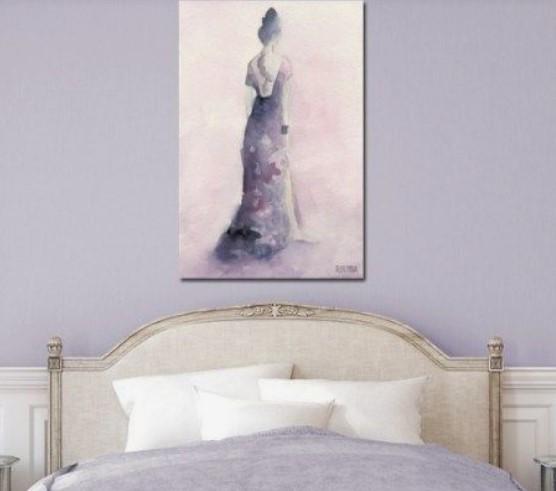 χαλαρωτικό χρώμα λεβάντα για υπνοδωμάτιο