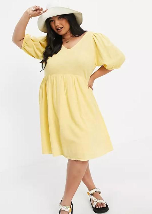 κίτρινο φόρεμα mini