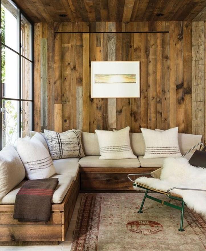 ρουστίκ καναπές