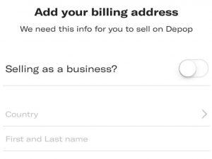 βήμα για να φτιάξεις λογαριασμό στο depop