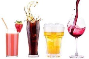 χυμός κόκα κόλα μπύρα κρασί