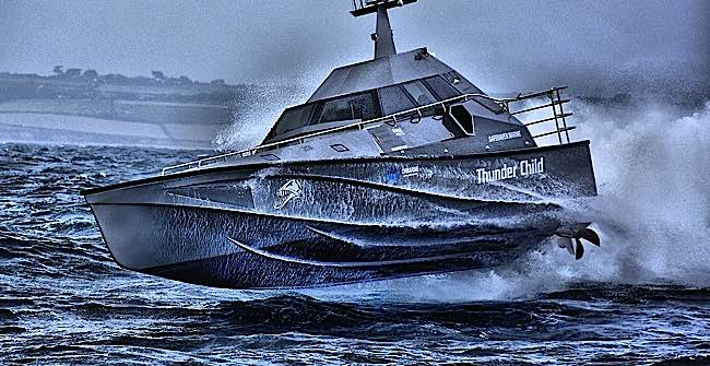 Thunder Child the unsinkable boat Selfrighting wavepiercing interceptor engineered to be the