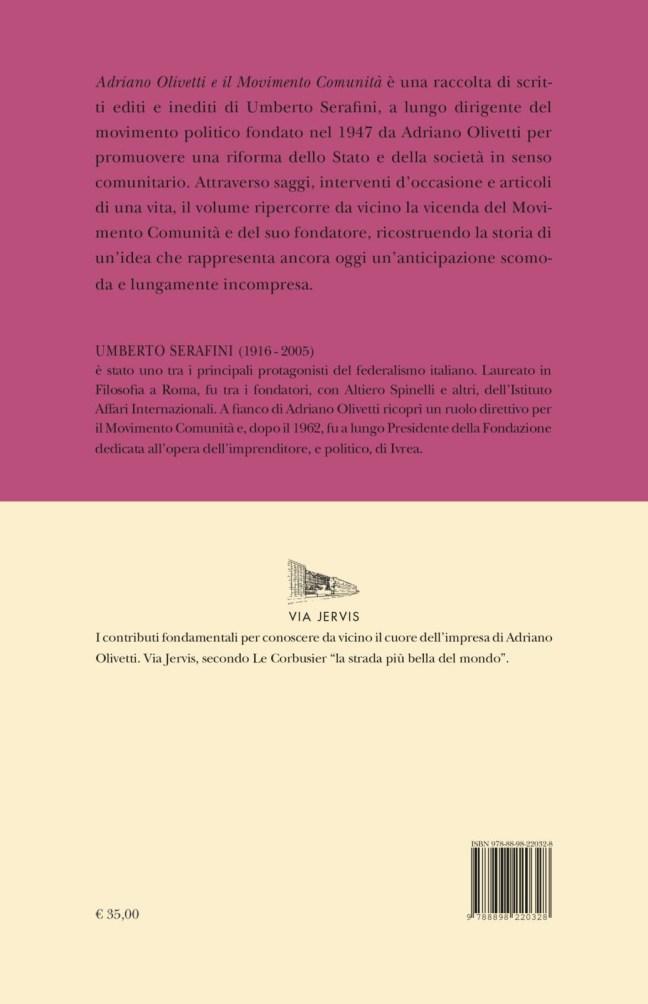 Quarta – Adriano Olivetti e il Movimento Comunità – Umberto Serafini