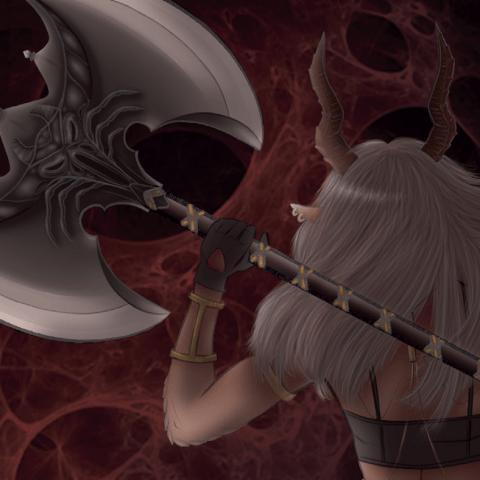Ax of blood by Maddalena Toso