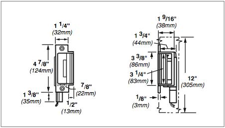 Von Duprin 6200 Series 6210 12VDC Fail Secure Grade 1