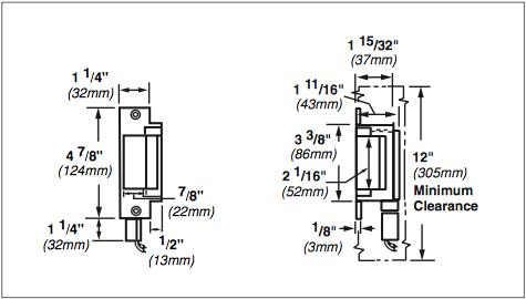 Von Duprin 6200 Series 6211 24VDC Fail Safe Grade 1