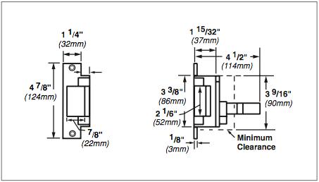 Von Duprin 6200 Series 6211AL 24VDC Fail Secure Grade 1