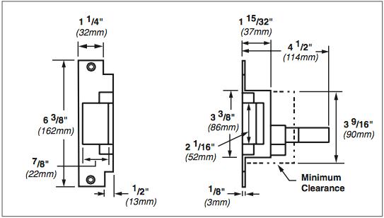 Von Duprin 6200 Series 6212WF 24VDC Fail Secure Grade 1