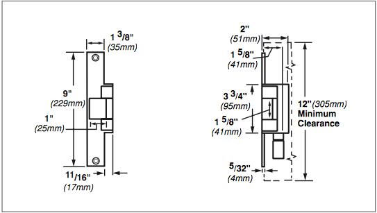 Von Duprin 6200 Series 6214 24VDC Fail Secure Grade 1