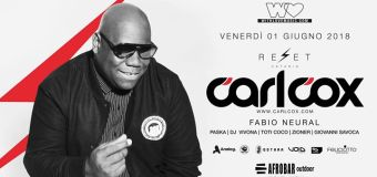 With Love presents: Carl Cox at Reset Catania