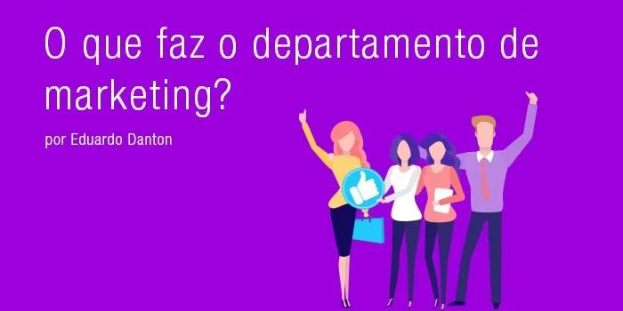 departamento de marketing