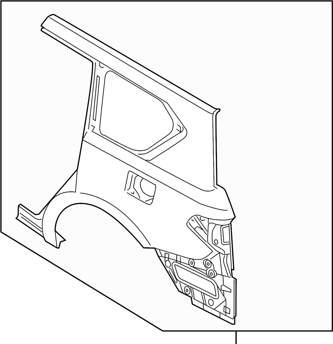 Nissan Armada Quarter Panel Right Rear