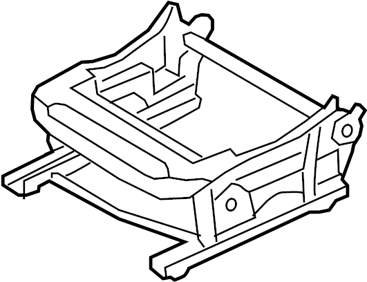 Nissan Rogue Frame Cushion, Seat. (Left, Front). POWER