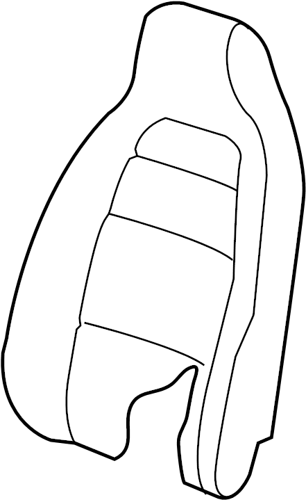 Nissan Xterra Trim Back, Seat. (Front). MANUAL, PRO, FOLD