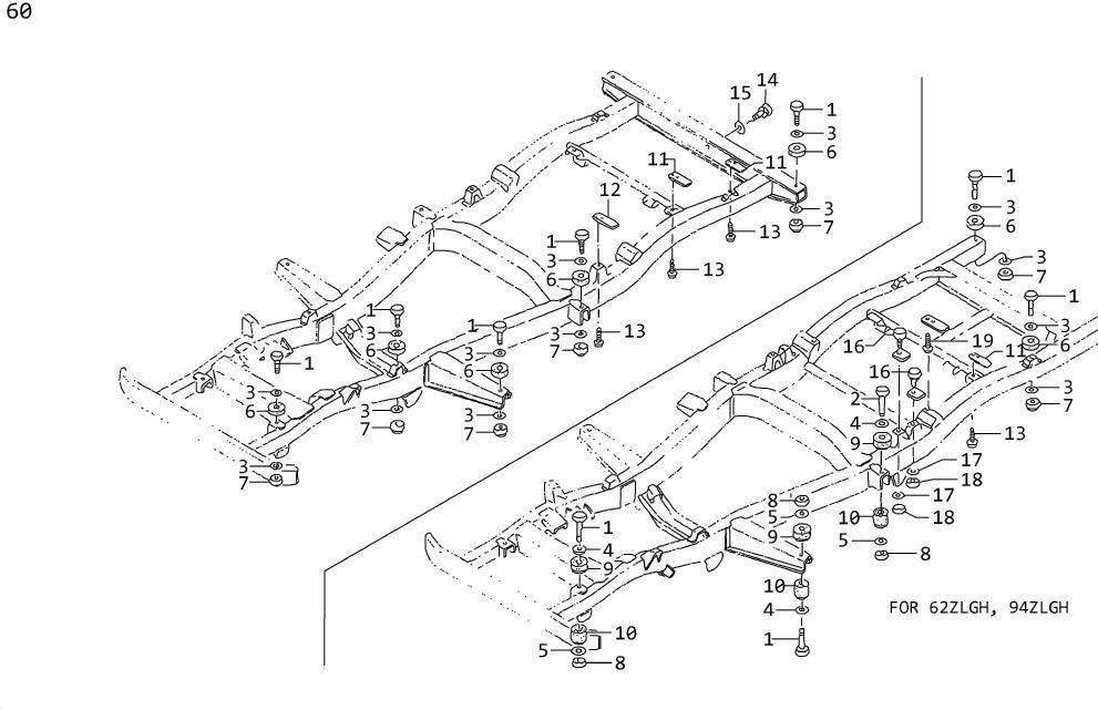 Nissan Pulsar NX Suspension Stabilizer Bar Link Nut (Left