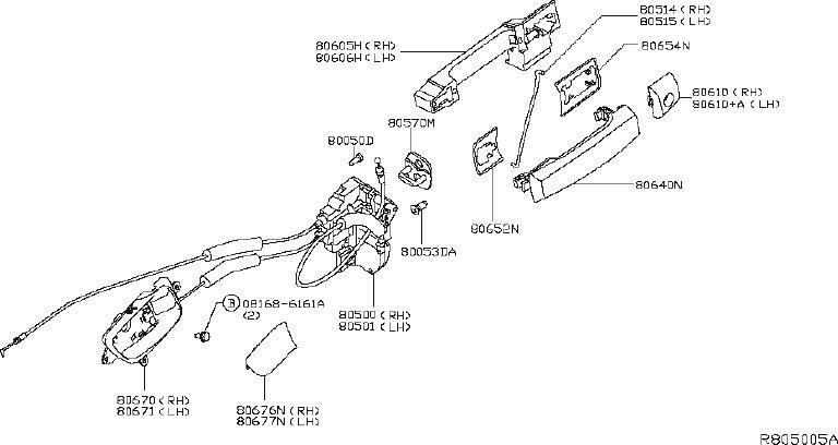 Nissan Titan Lock&Remote Control Door. (Left, Front