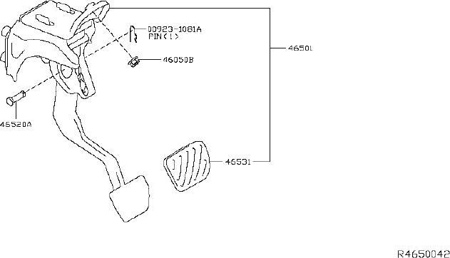Nissan Titan Pedal Brake With Bracket. CLUTCH, Brakes