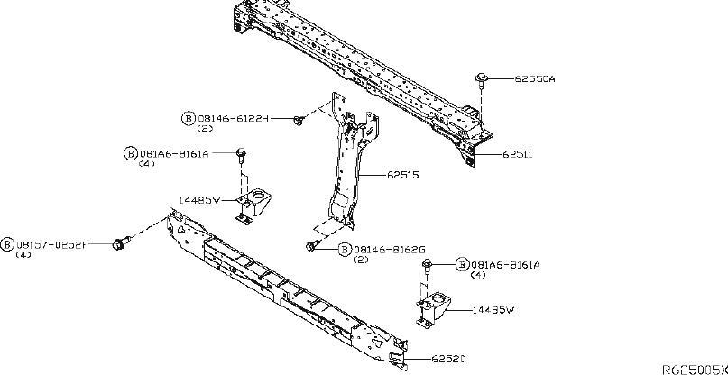 Nissan Titan Radiator Support Tie Bar Bracket (Right