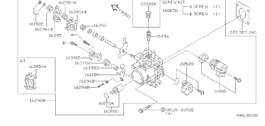 Nissan Sentra Fuel Injection Idle Air Control Valve