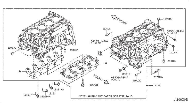Nissan Sentra Gasket Drain Plug. Washer Drain Plug. BLOCK