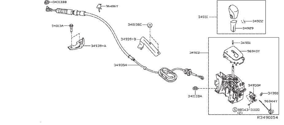 Nissan Sentra Shift Lock Solenoid Valve And Park Switch