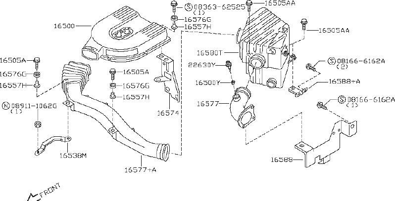 Nissan PICKUP Engine Crankcase Breather Element. AIR