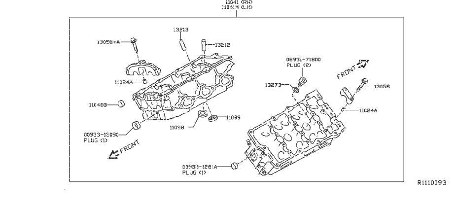Nissan Frontier Engine Cylinder Head Gasket. COMPONENT