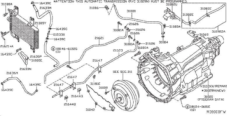 Nissan 300ZX Clip Hose. Clip Wiring Harness. VAC, FORA