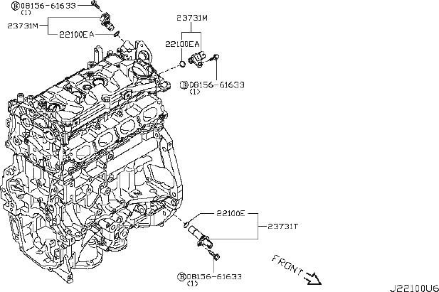 Nissan Juke Engine Crankshaft Position Sensor. DISTRIBUTOR