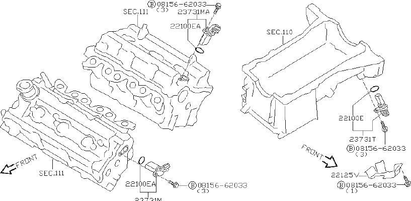 Nissan Altima Engine Crankshaft Position Sensor