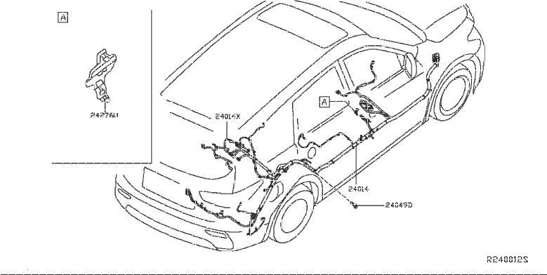 Nissan Pathfinder Harness Body. ENGINE, ROOM, CONTROL