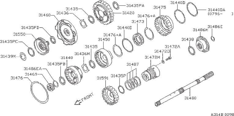 Nissan Pathfinder Manual Transmission Input Shaft Bearing