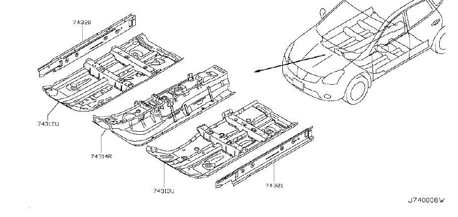 Nissan Rogue Rocker Panel (Right). Trim, Interior, FLOOR