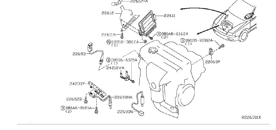 Nissan Quest Engine Control Module. System, Electrical