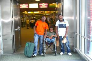 Energy with USAP Brothers Goodwell Nzou and Honest Mupatsi when they first arrived in the U.S.