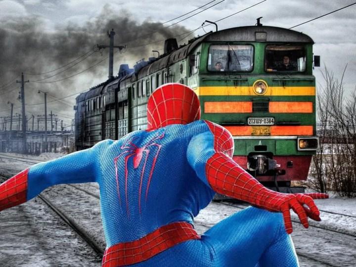 Può realmente Spider-Man fermare un treno?
