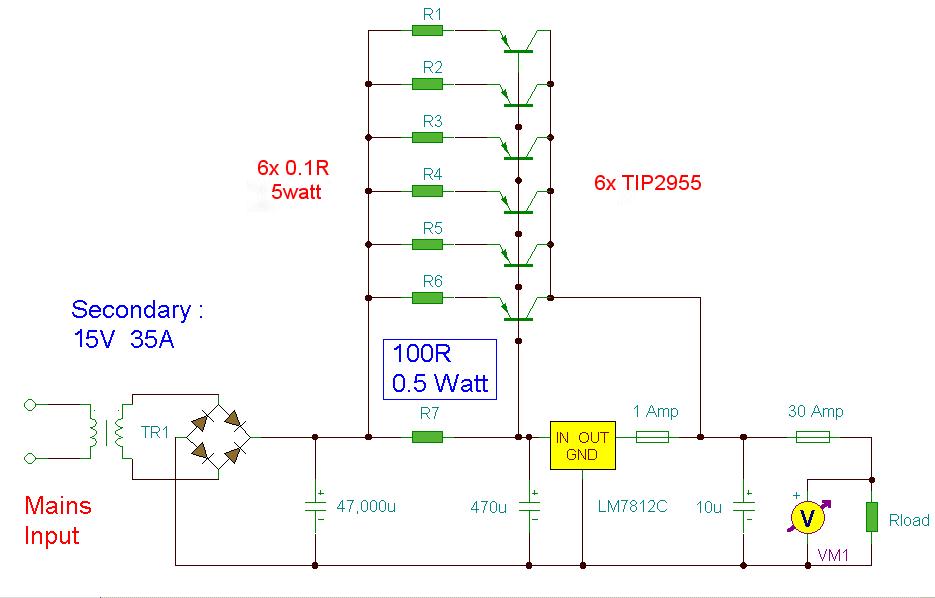 Alimentatore 12 Volt 30 Amp