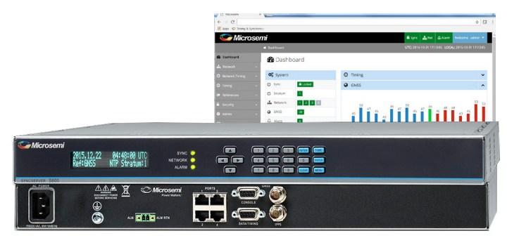 Il time server della serie SyncServer S600 di Microchip protegge dai disturbi GPS e dallo spoofing