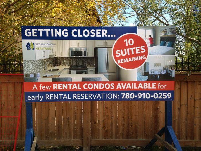Real Estate Sign Edmonton