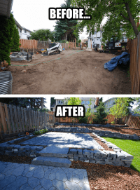 Backyard Landscaping - Before and After Photo - Edmonton ...