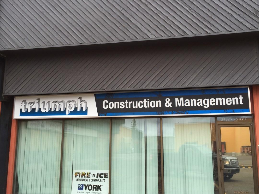 Edmonton Business Signs Triumph